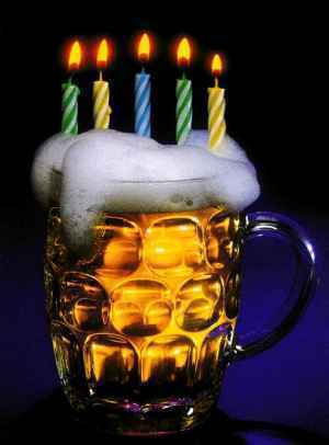 Happy birthday craft beer cake - photo#10