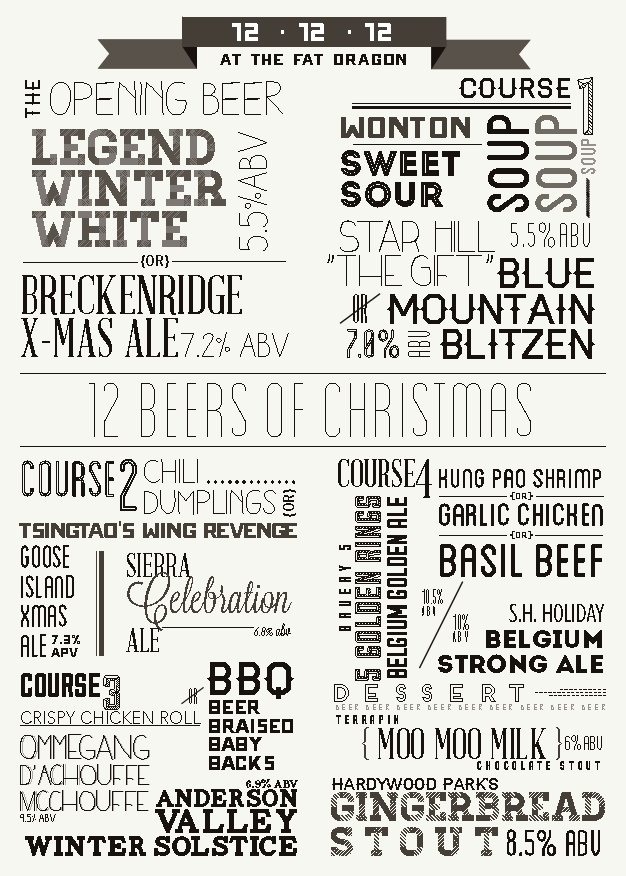 Fat Dragon 12 XMas beer dinner1