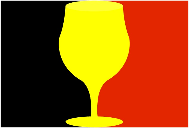 Belgian Independence Glass Flag1