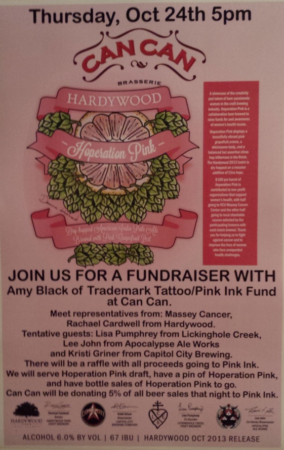 Hardywood Hoperation Pink CanCan 102413
