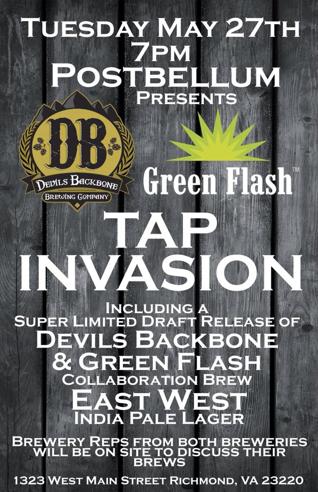 Devils Backbone and Green Flash Invade Postbellum With East West ...