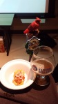 Patina: Smoked tomato crab compote crostini with Lickinghole Creek Bourbon Tripel