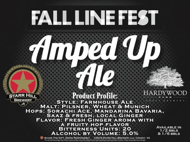 Fall Line Fest Amped Up Ale