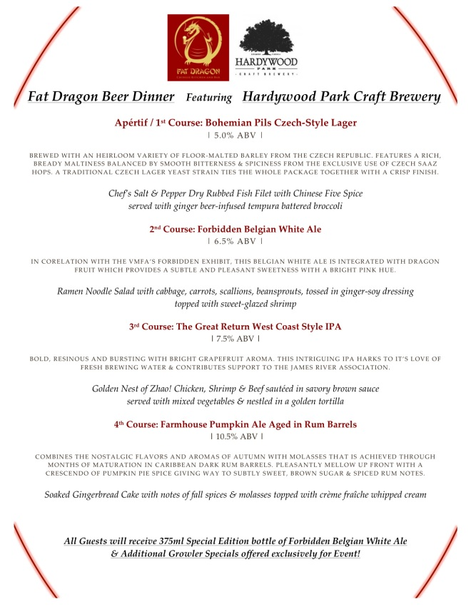 Hardywood Forbidden Dragon Dinner Fat Dragon 102114