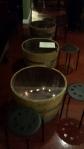 Lit half barrel tables