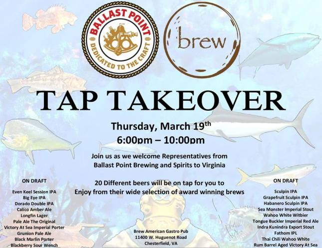 Ballast Point Takeover at Brew