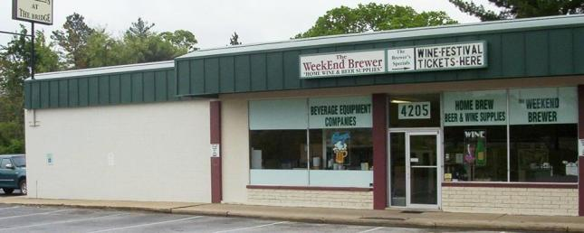 Weekend Brewer store front