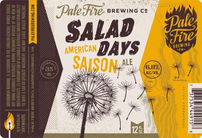 Pale Fire Salad Days Saison