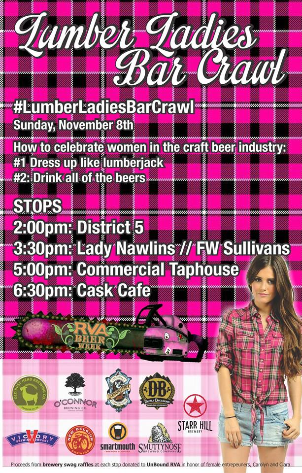 Lumber Ladies Bar Crawl 110815